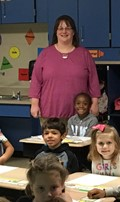 Teacher of the month for October: image