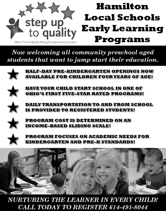 Click the image for PDF of Hamilton Preschool Promo Ad