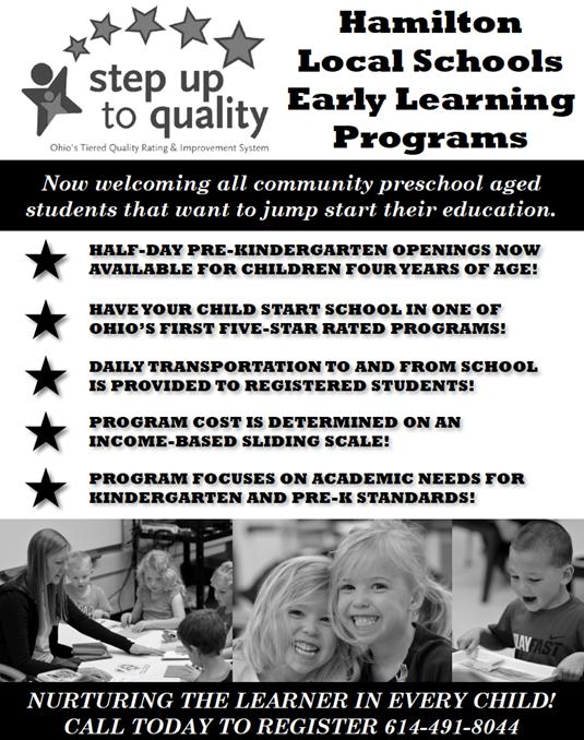 Click the image for PDF of Hamilton Preschool Promo Ad