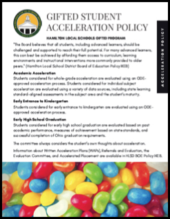 Gifted Student Acceleration Policy