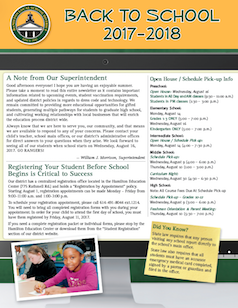 2017-2018 Back to School Newsletter