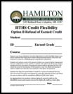 Option B Refusal of Earned Credit