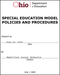 Model Policies and Procedures