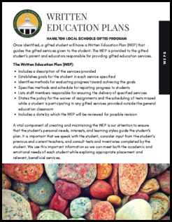 Written Education Plans (WEPs)