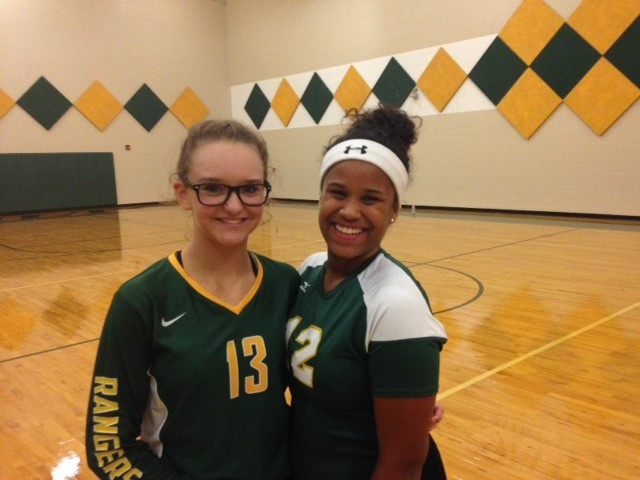Grace Green & Brianna Jackson. First game of the season.