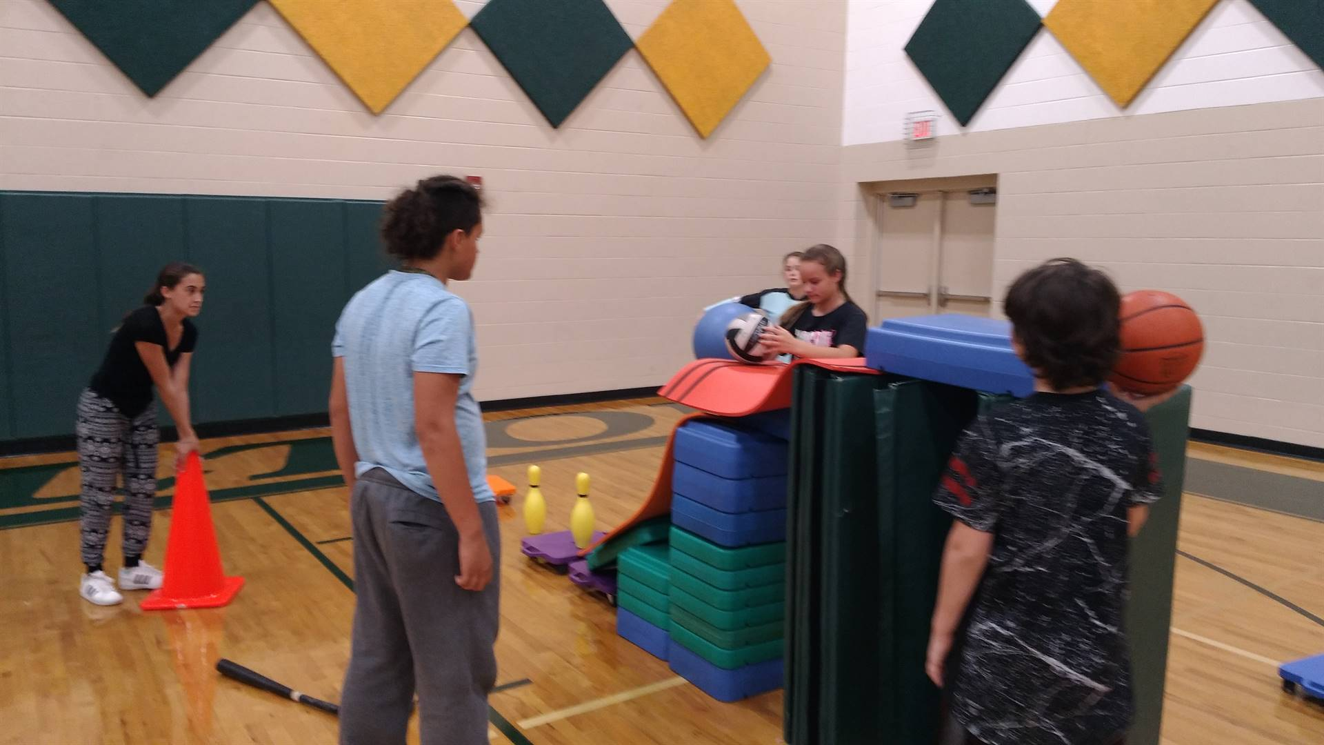 Knock down at least one bowling pin using six or more different types of equipment and by creating t
