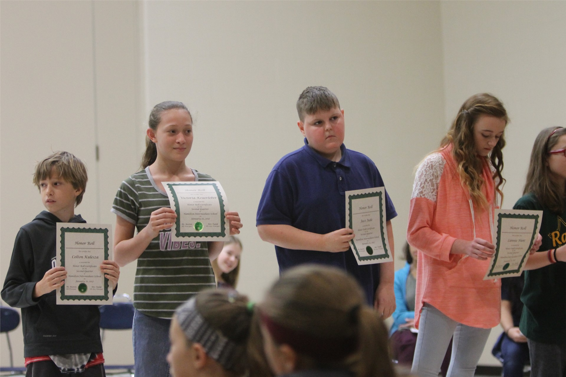 6th grade Honors Assembly