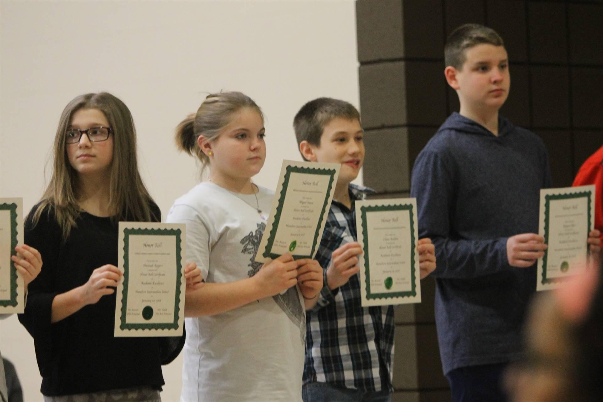 6th grade honors assemblies