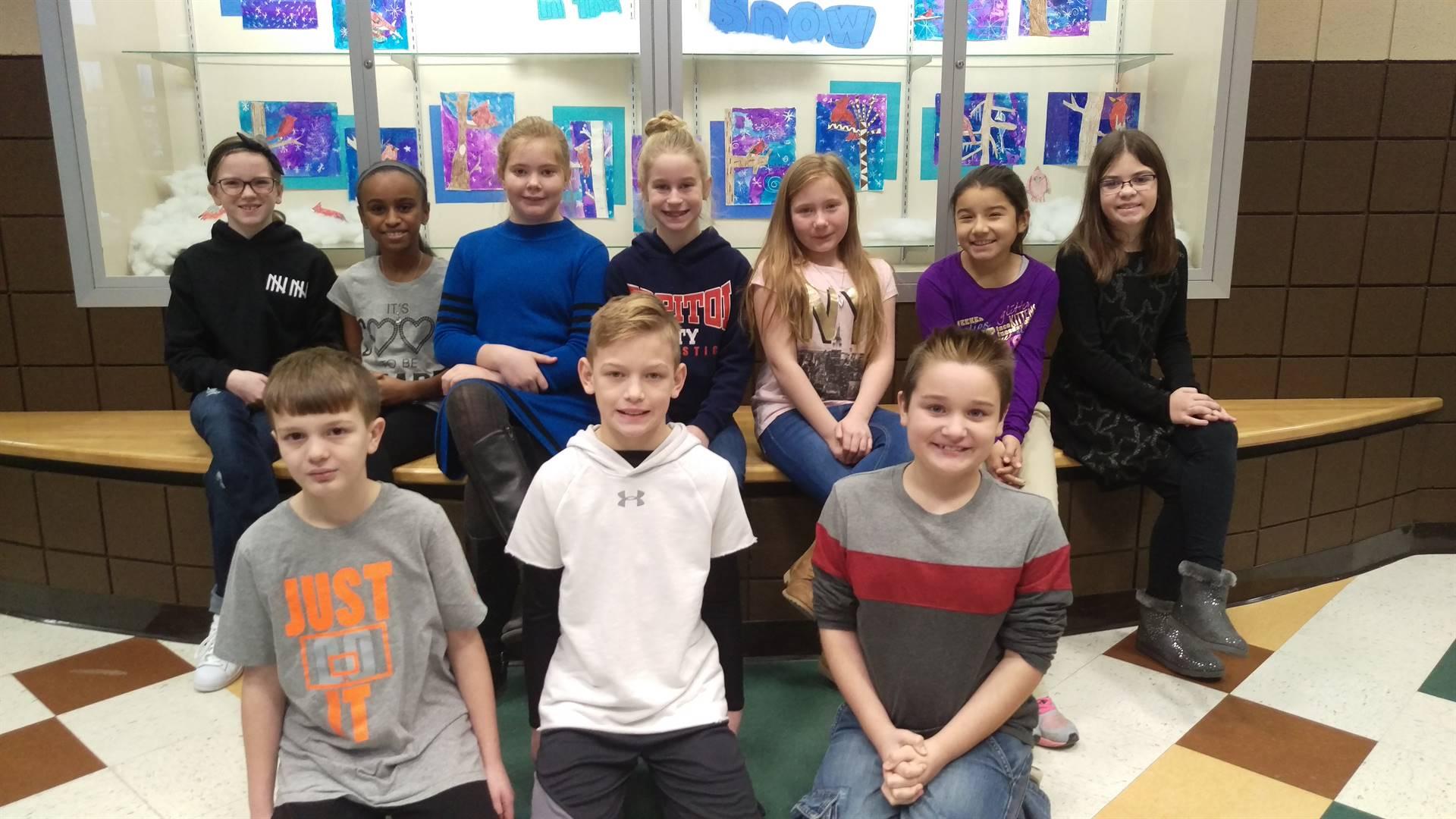 4th grade Principal's Honor Roll Students