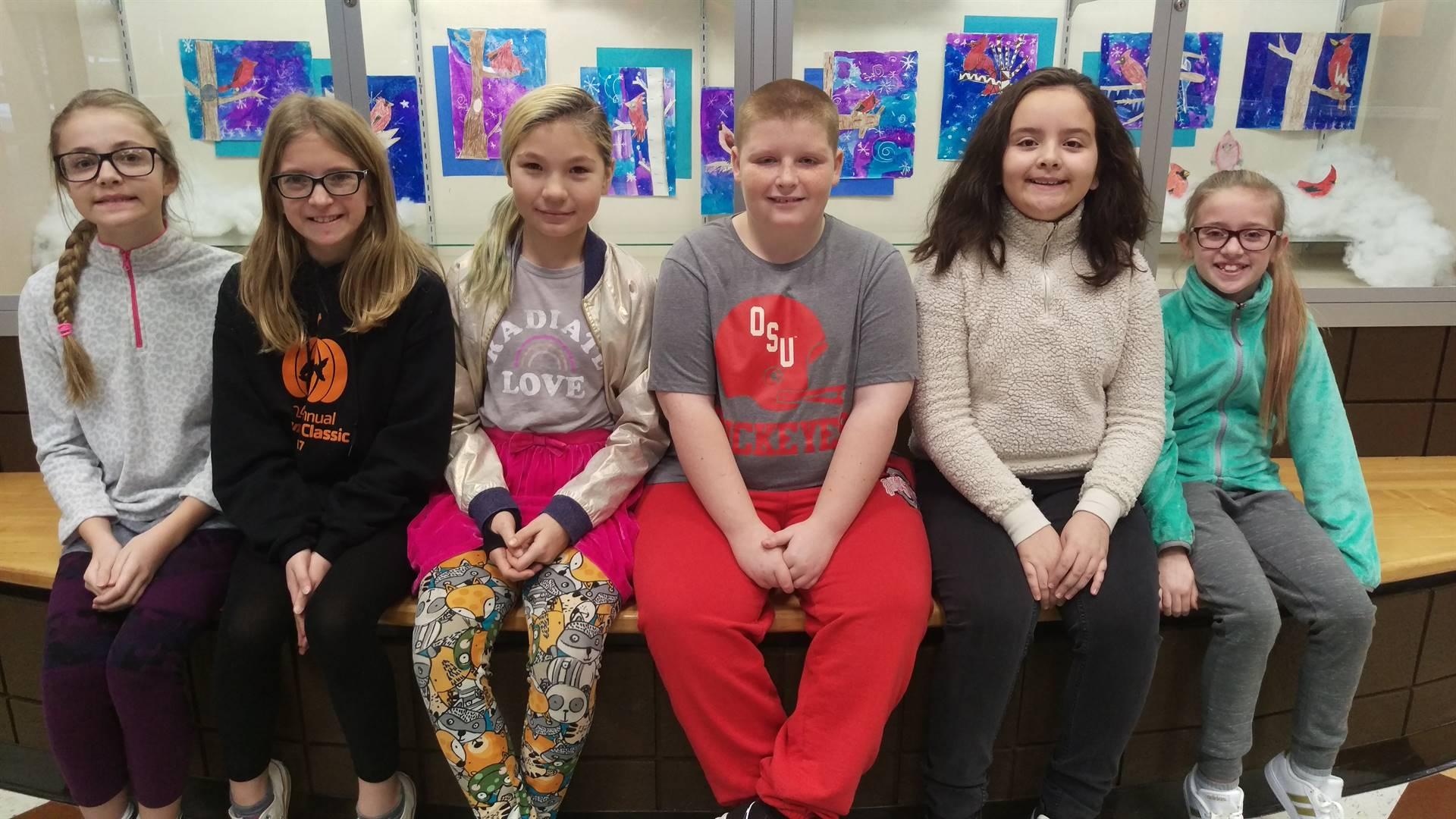 5th grade Principal's Honor Roll Students