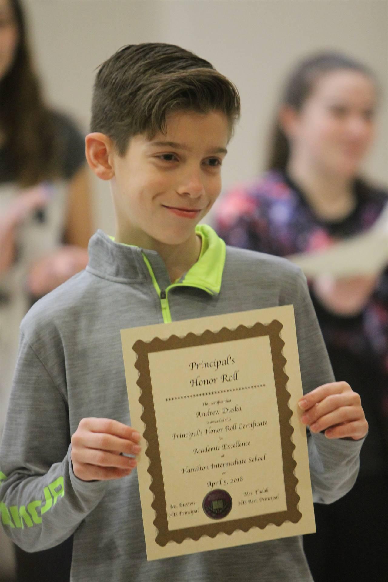 6th grade Honors Assemblyff
