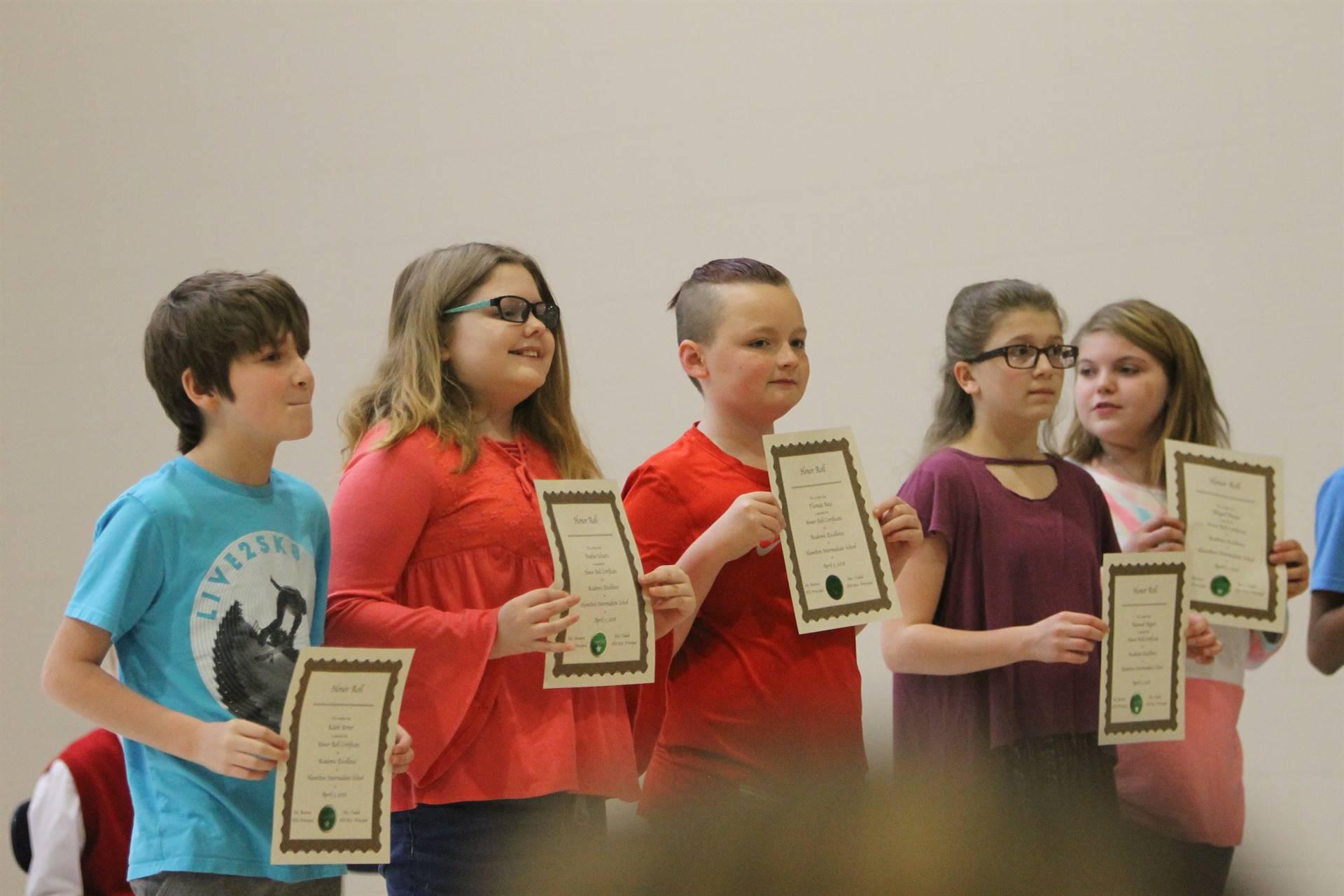 6th grade Honors Assemblyzz