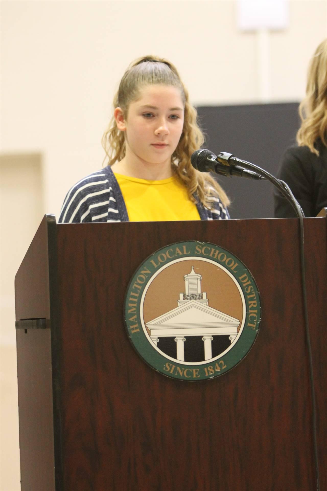 6th grade Honors Assemblybb