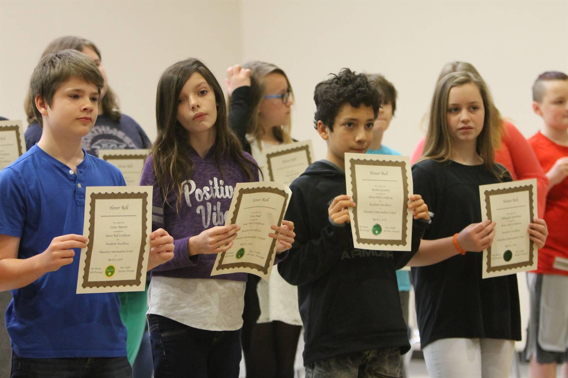 6th grade Honors Assemblynn