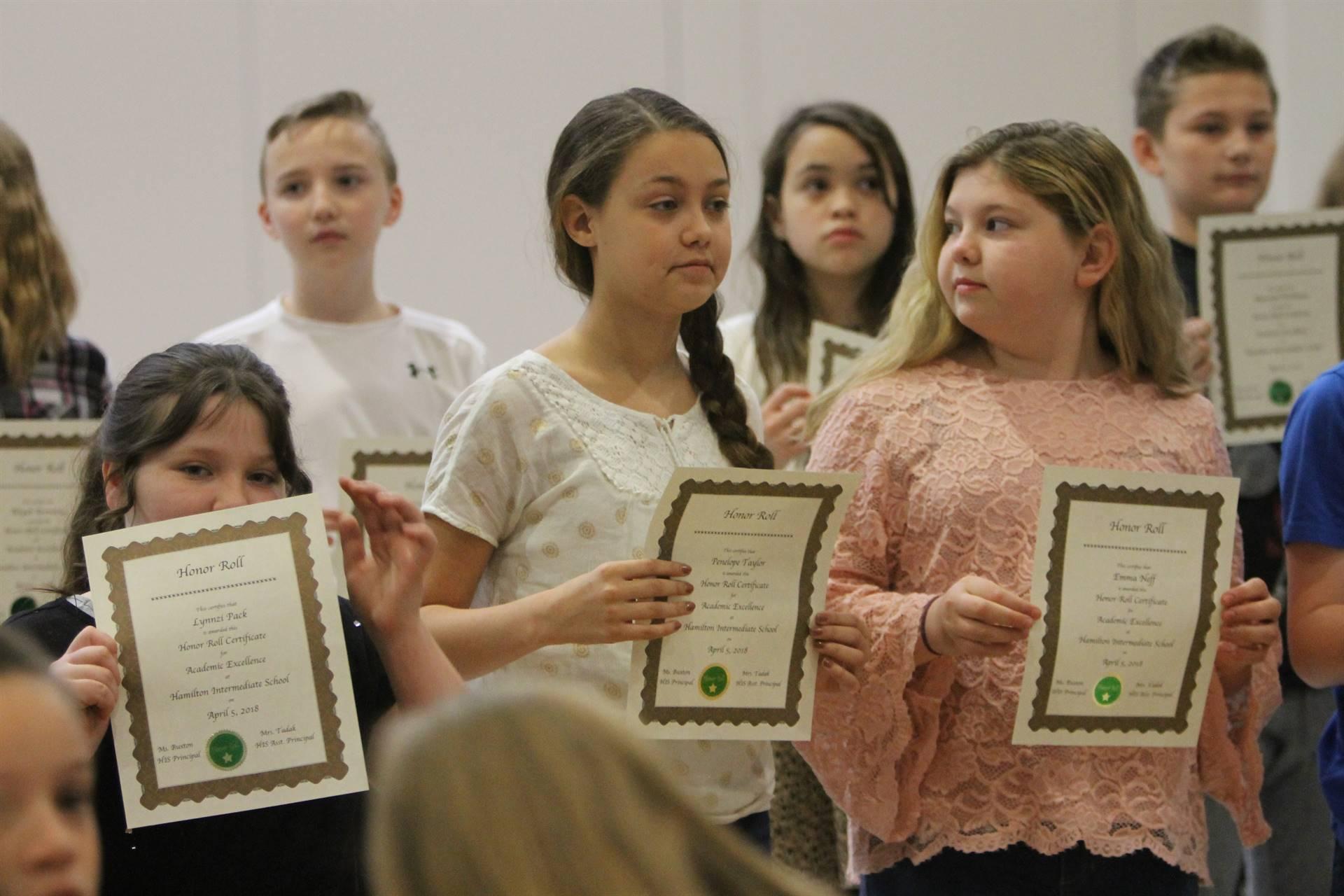 6th grade Honors Assemblymm