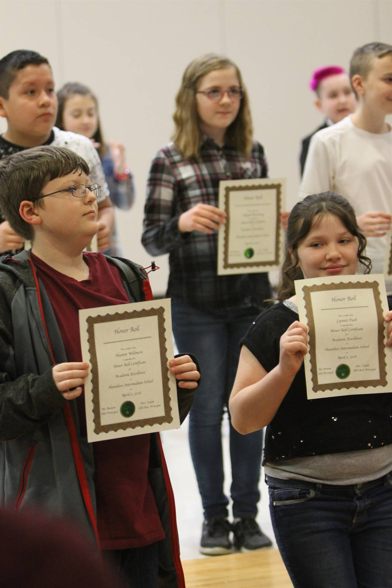 6th grade Honors Assemblym