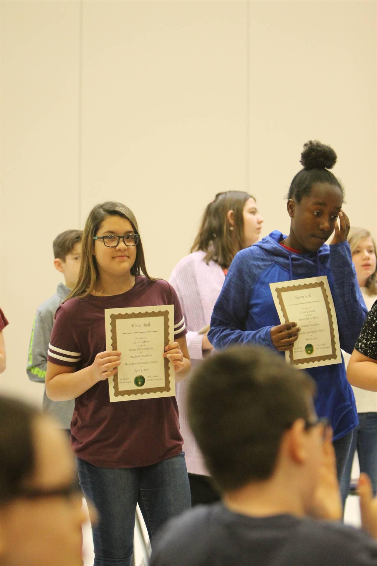 6th grade Honors Assemblyn