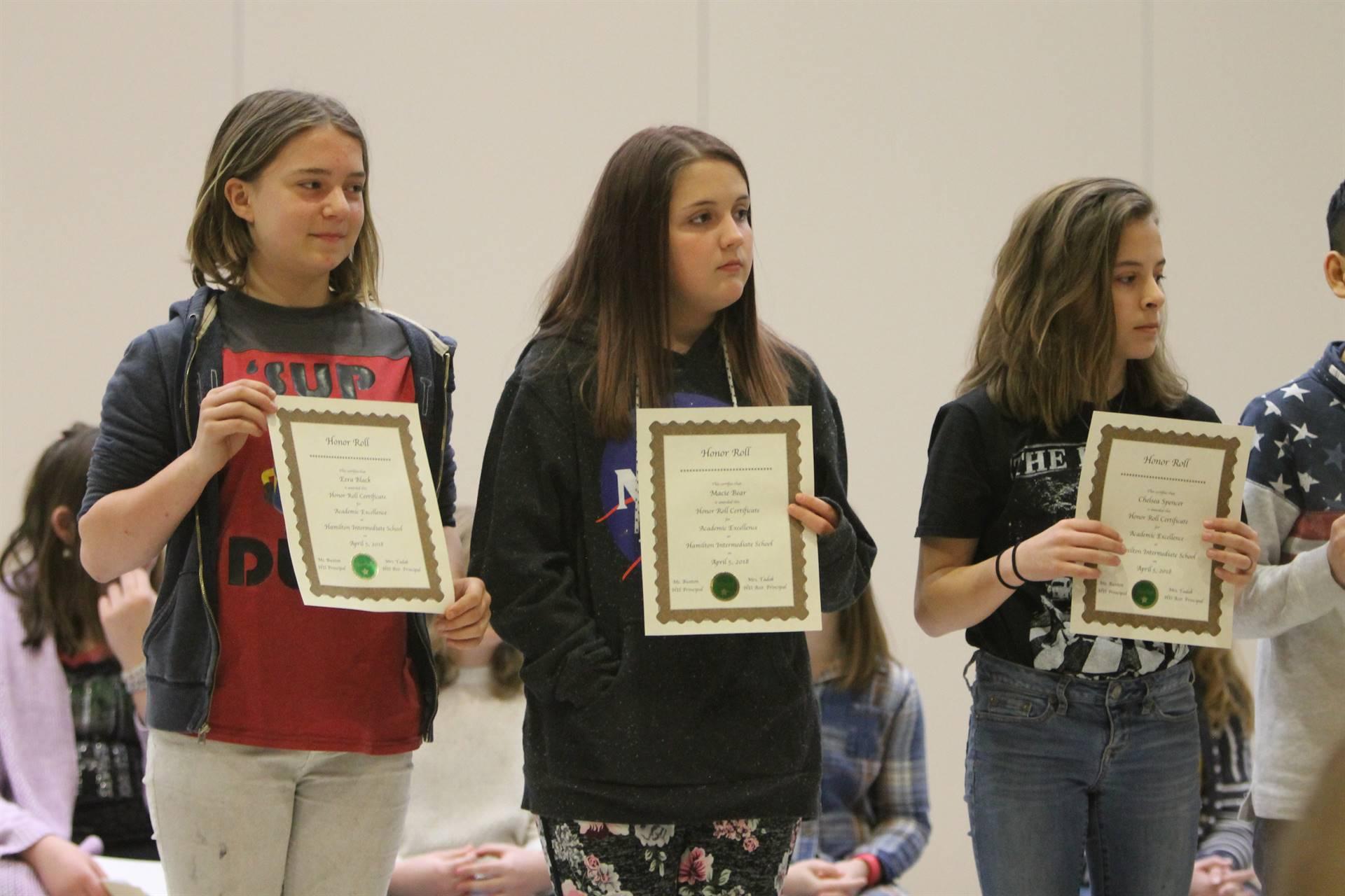 6th grade Honors Assemblyk