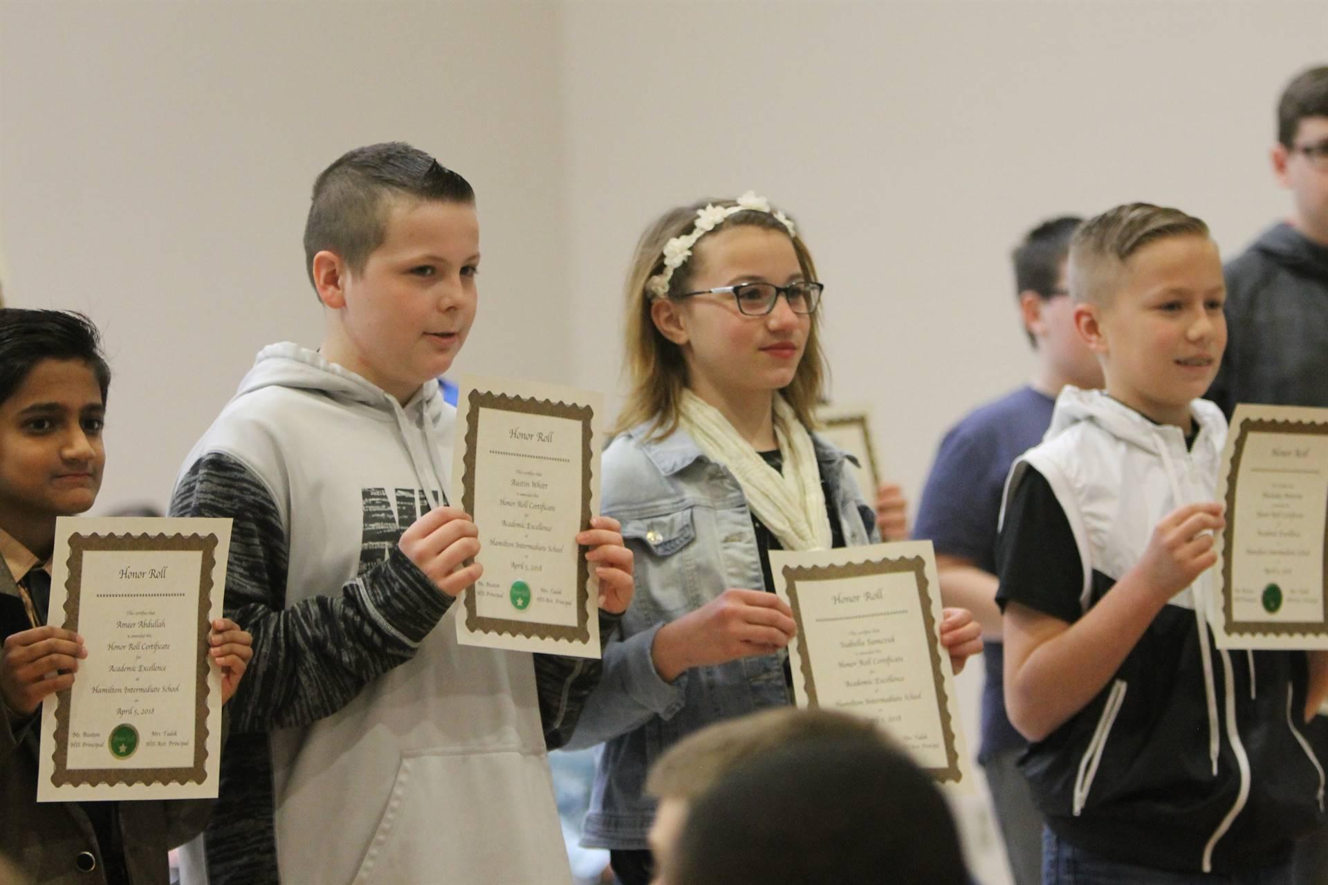 6th grade Honors Assemblyj