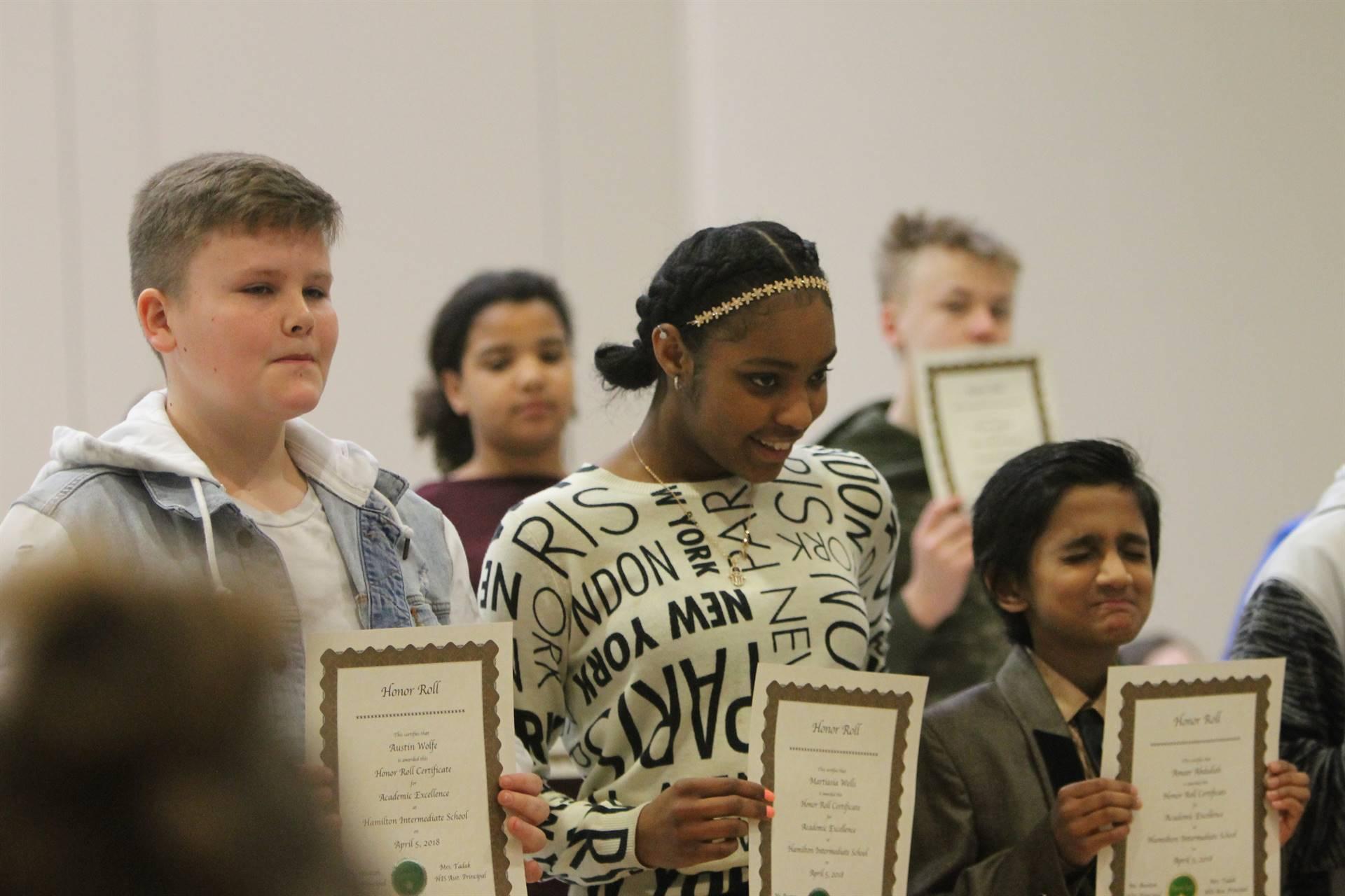 6th grade Honors Assemblyh