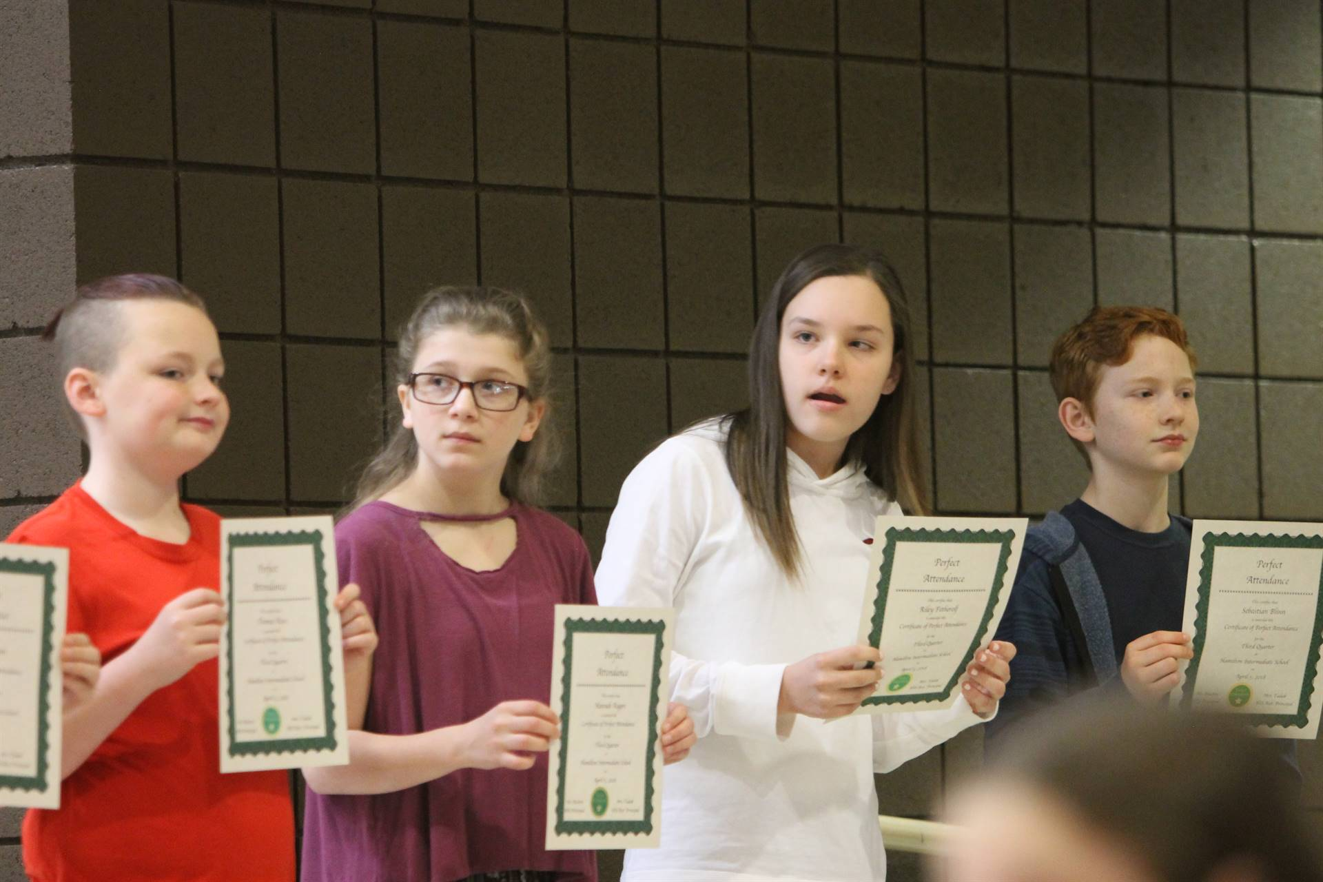 6th grade Honors Assemblyd