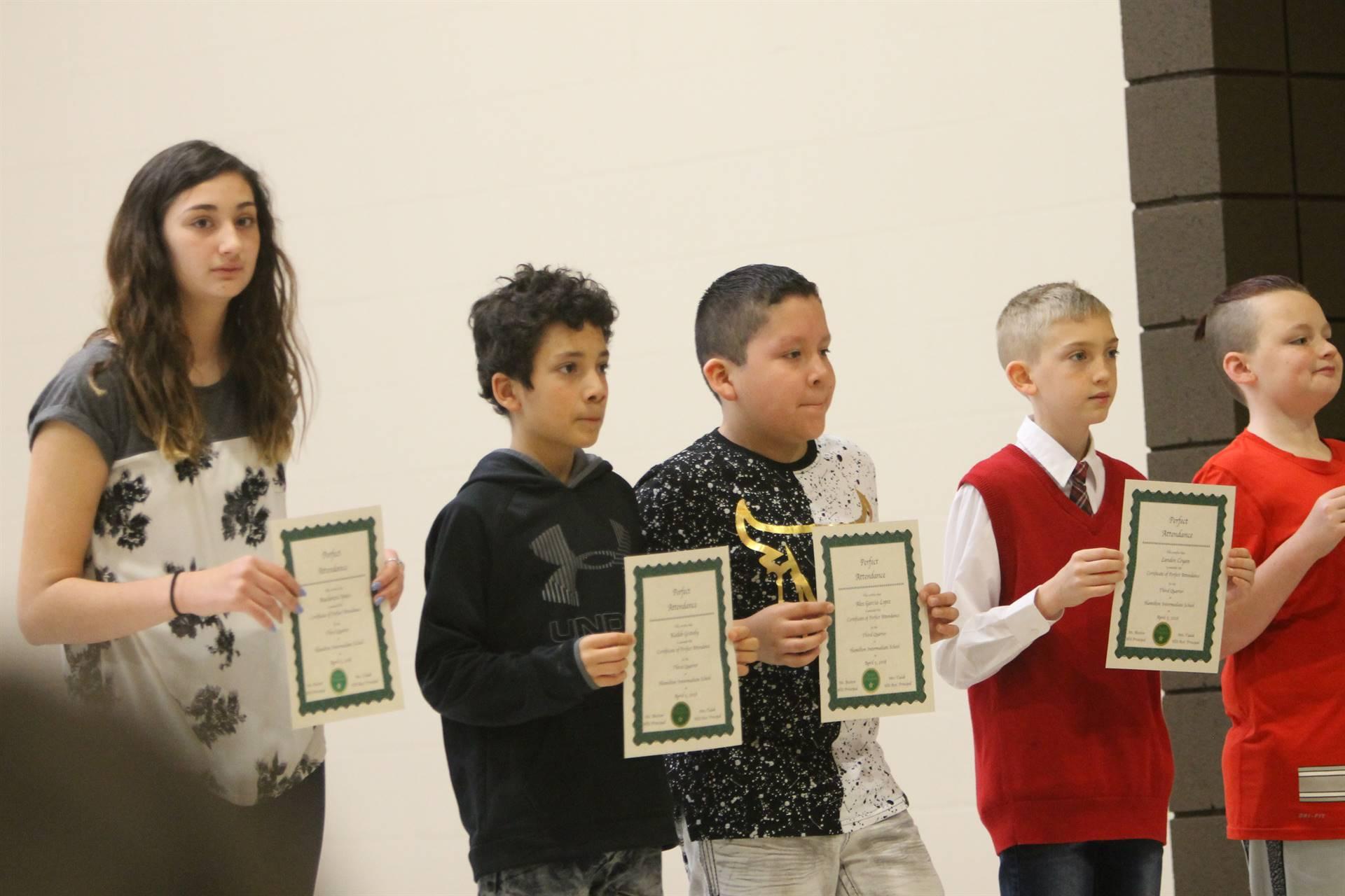 6th grade Honors Assemblys