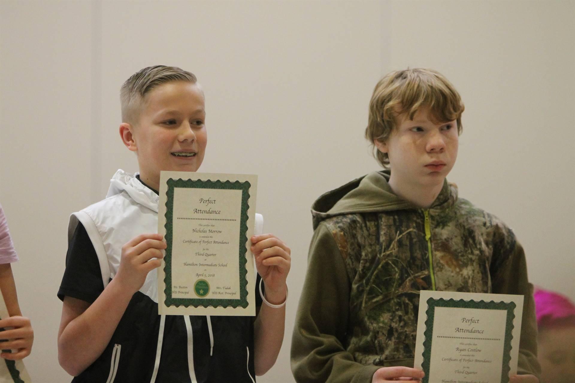 6th grade Honors Assemblyr