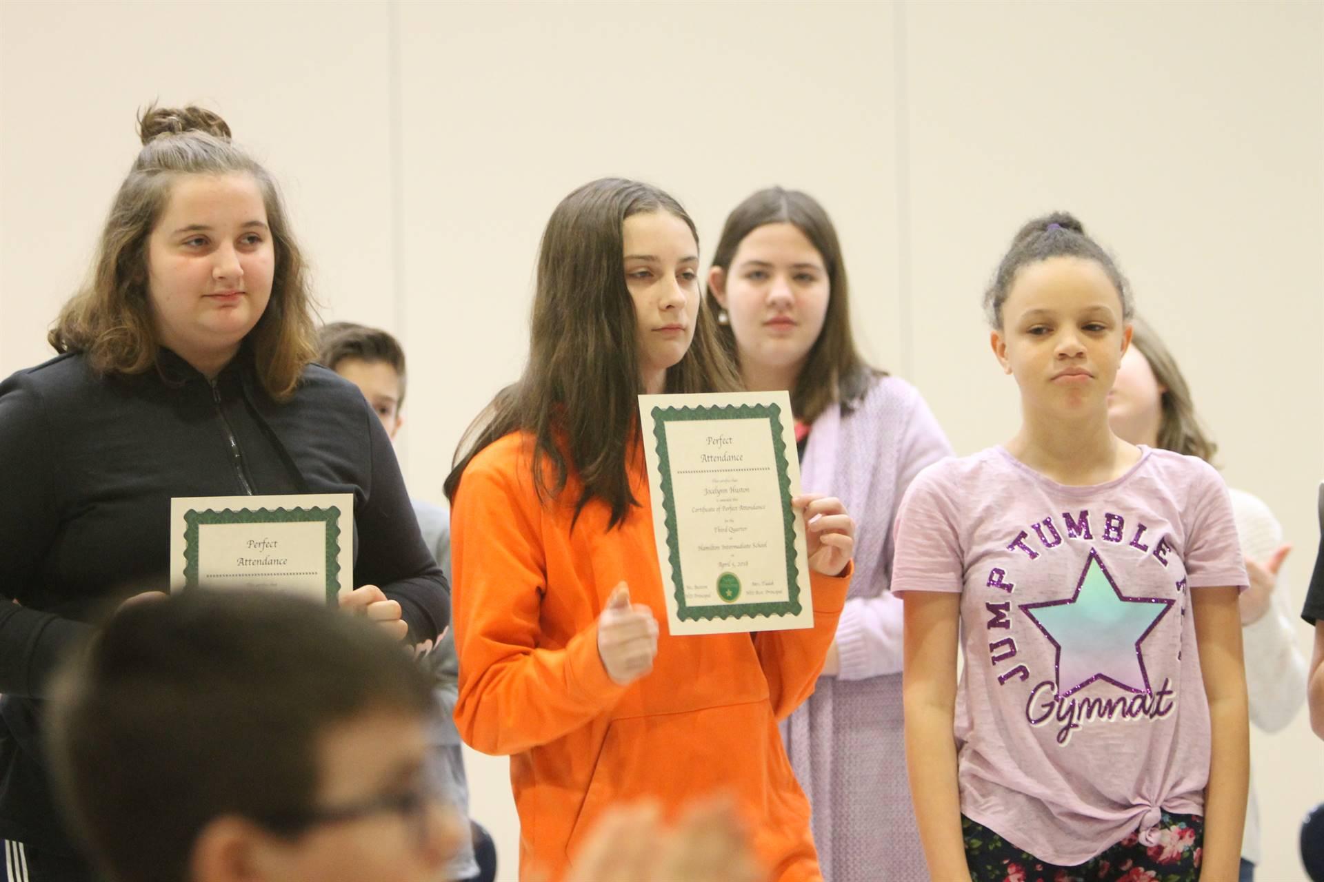 6th grade Honors Assemblye