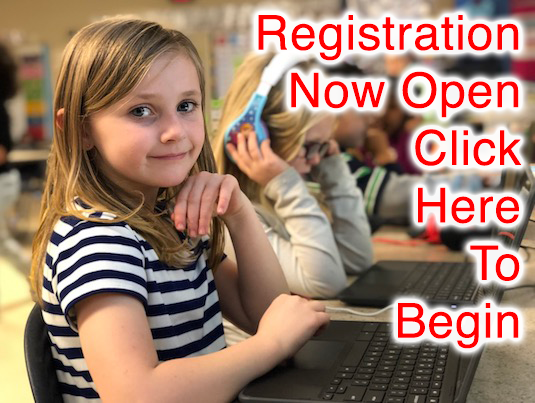 Click this image to open our new student online registration portal.