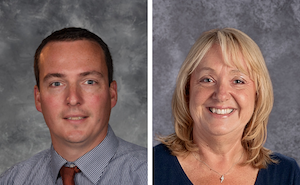 Hamilton Township Director of Athletics Ryan Fitzgerald, and Athletic Department Administrative Assistant, Susan Sewell